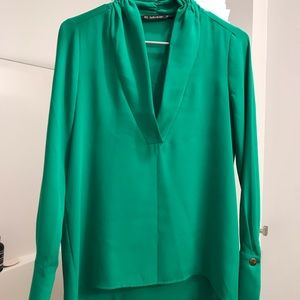 Zara green blouses